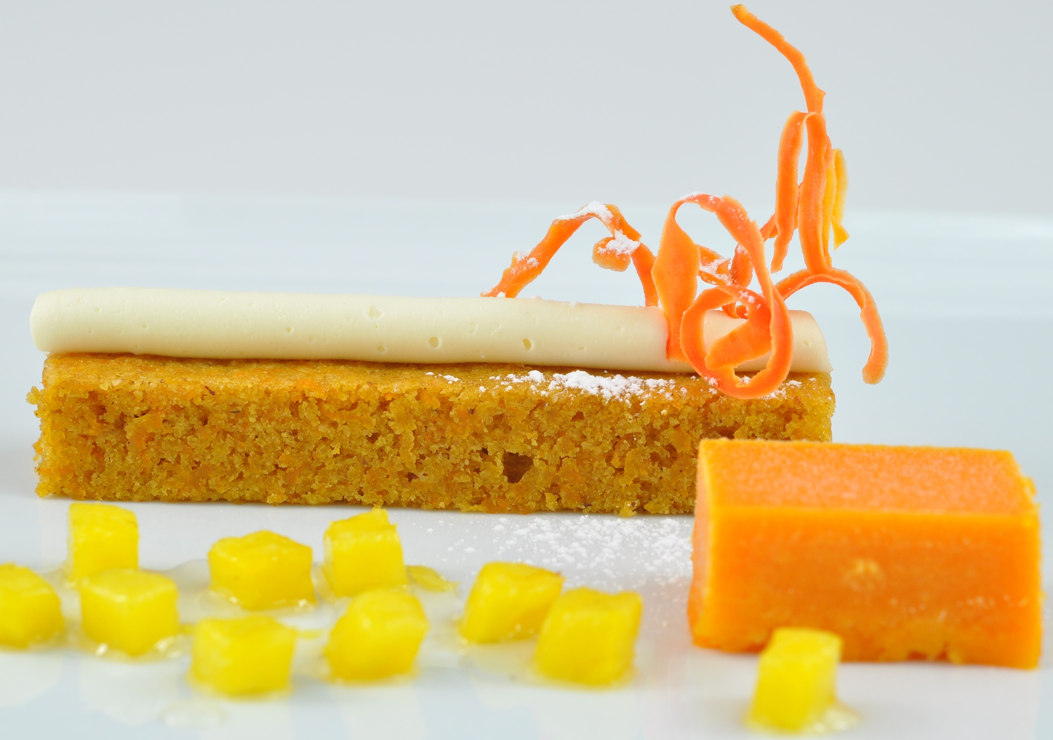 Plated Carrot Cake