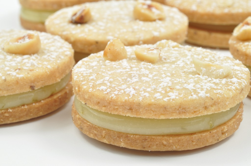 lime hazelnut  shortbread